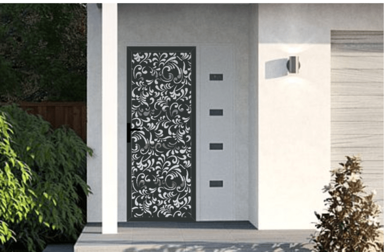 Florence Door Design Installed By TCI Fencing in ACT