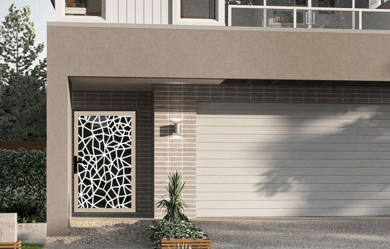 Laser cut security screen door Decoview - Giraffe