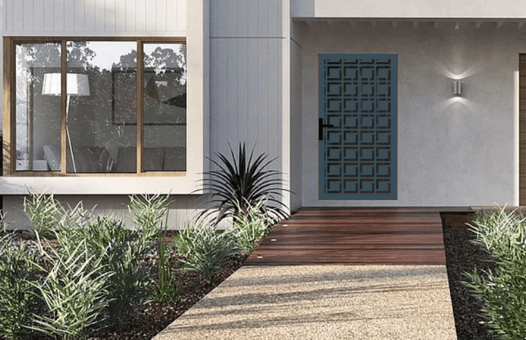 Laser cut security screen door Decoview - Square of a Time
