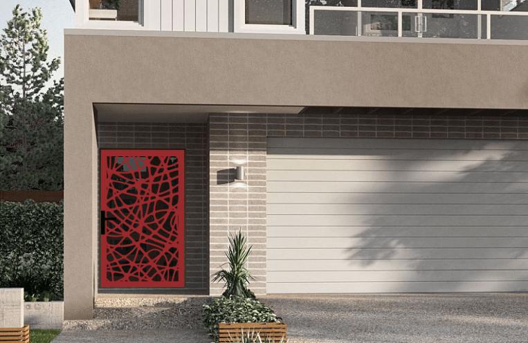 Laser cut security screen door Decoview - Swirl