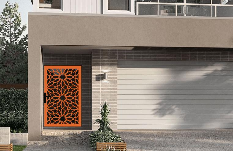 Laser cut security screen door Decoview - Moroccan