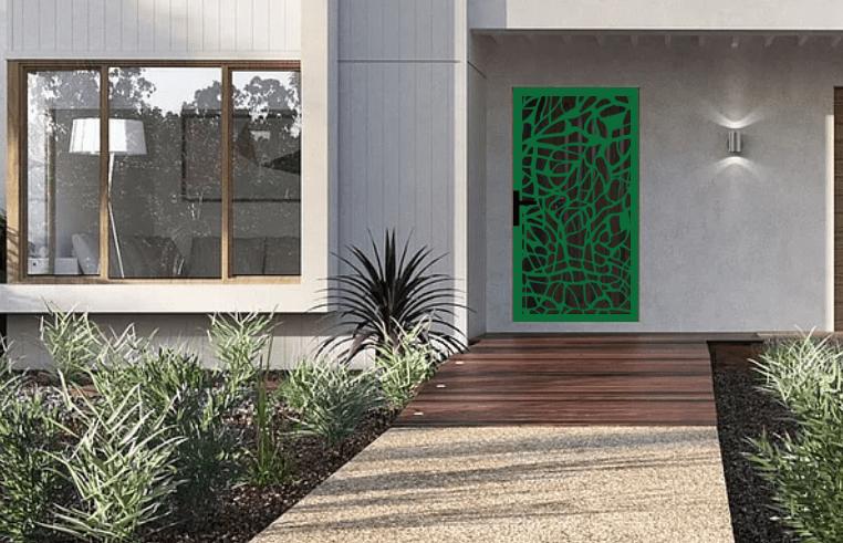 Laser cut security screen door Decoview - Sherryn