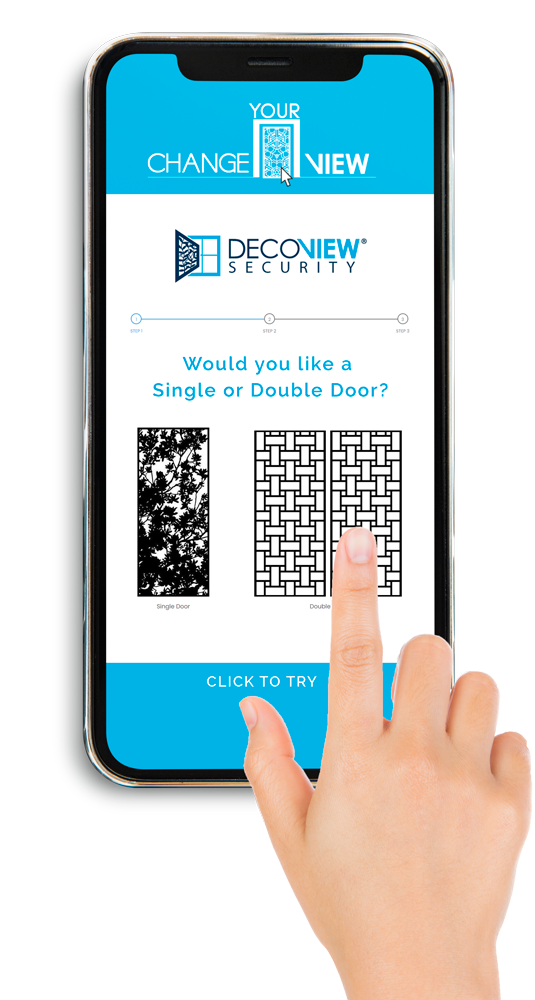 Change Your View software - decoview security doors render by www.designsy.com.au web design