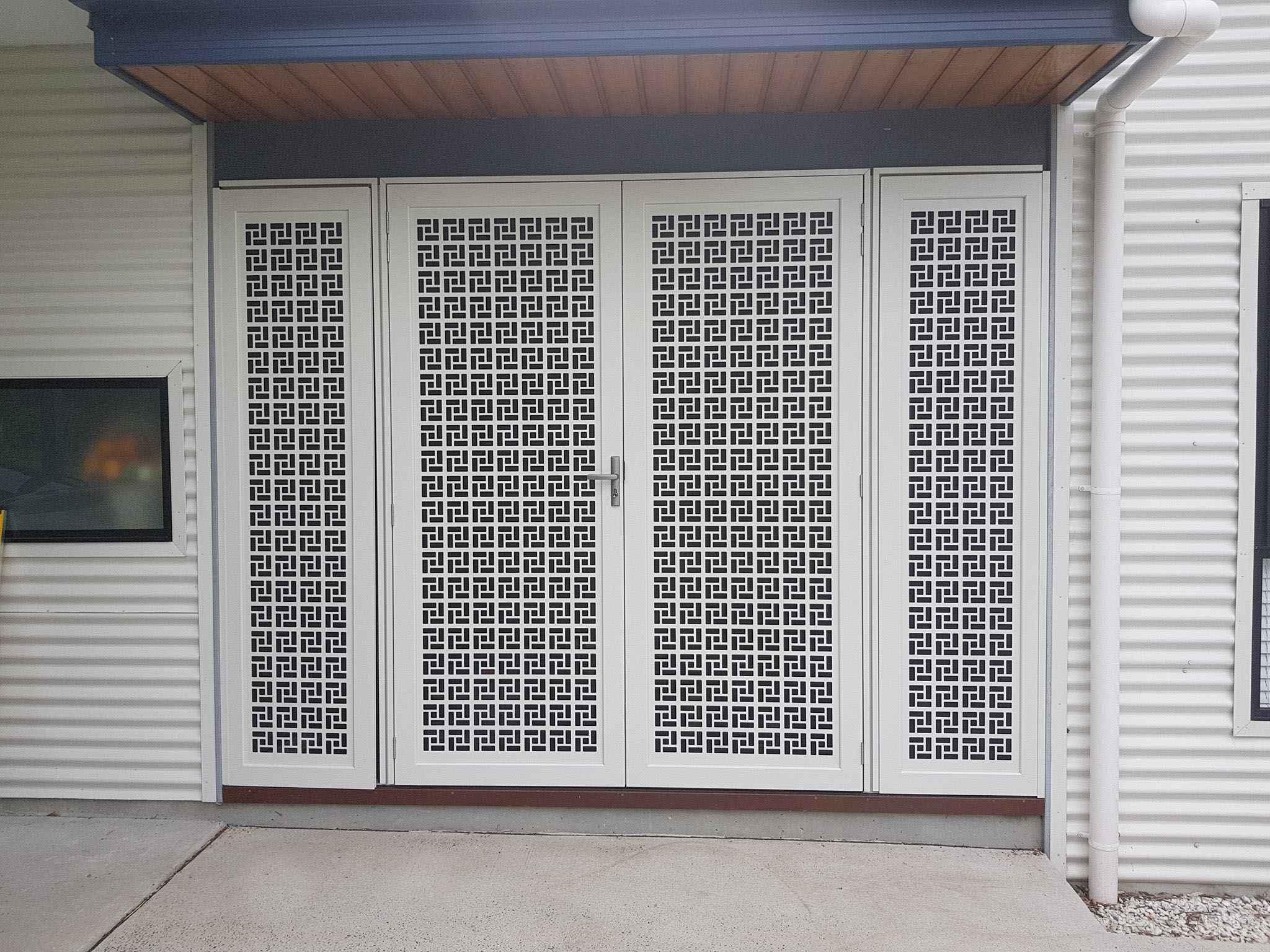 Laser cut protico entryway fancy decorative screen doors