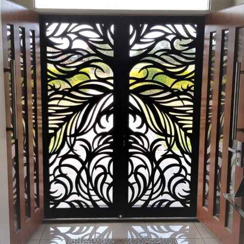 Double laser cut security screen door by Decoview