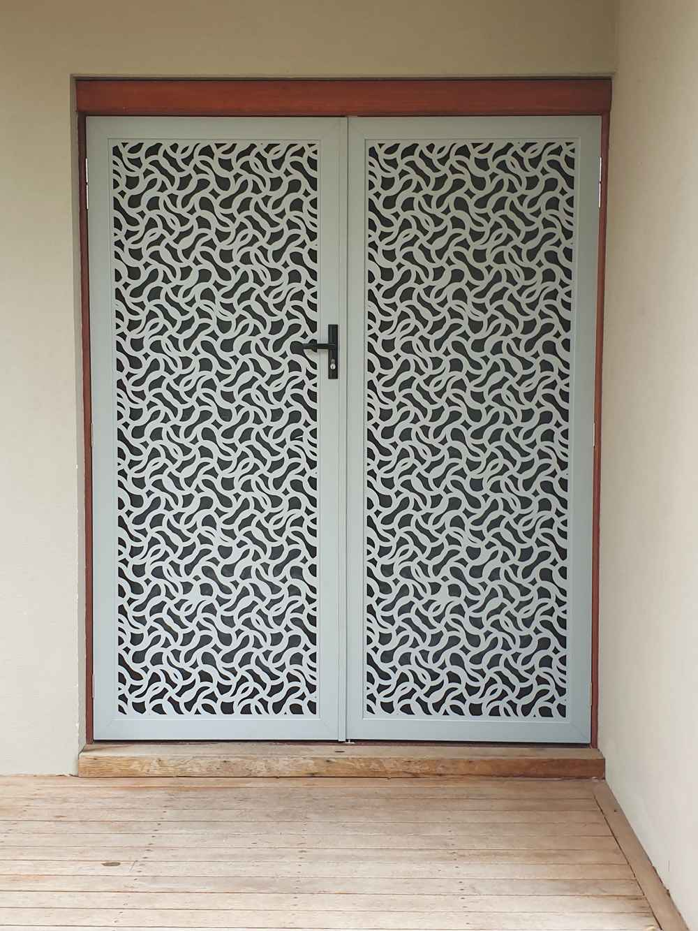 Laser cut security screen fancy door